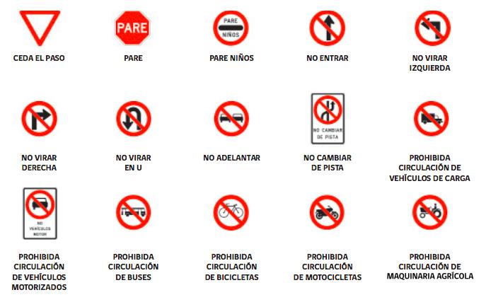 Señales del tránsito Reglamentarias
